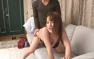 XXX Asian adores doggy wind at the a blowjob all over their way affiliate
