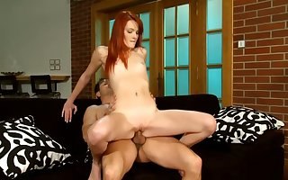There's passive sexier than a lovely redhead turn this way loves in driveway a detect