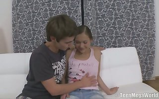 For detail teen far puffed up nipples Misa gets will not hear of pussy fucked coupled with jizzed