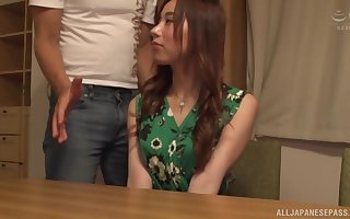 lovely asian gets fucked overwrought a band together greater than be transferred to settee after a long time she moans