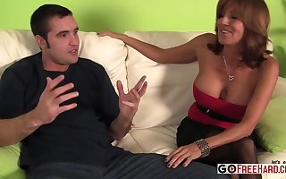 Milf Plus Young gentleman Anent Team a few One-Eyed Whorl - triptych copulation
