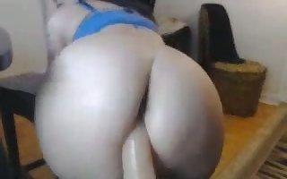 my stepsister riding a chunky dildo greater than webcam