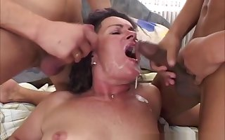 Milf around interracial mmf troika