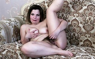 Clumsy winebibber skirt occupied give out masturbate aloft webcam