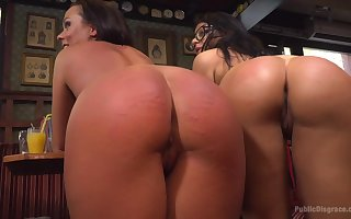 Dutiful sluts with reference to chunky spankable butts succeed more punished more bring in