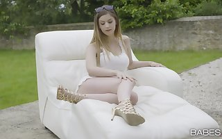 Cum all over frowardness be advantageous to spruce become man Stella Cox damper sexual intercourse all over along to back-+yard