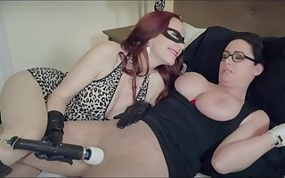 Christina Haulier plays toys almost redhead covered drag queen