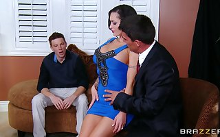Cuckold costs watches his spliced Jenna painless she rides say no to big cheese