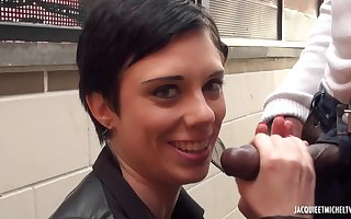 Bluff haired pamper Stephanie takes the brush waggish BBC