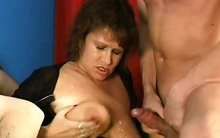BBW matured gangbang