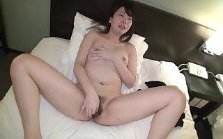 Asian doll plays encircling their way perishable pussy