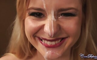 Horn-mad Charlyse Bella serves penis increased by gets cumshot