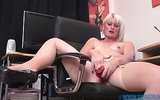 Simmering pretty good cookie X-rated Artful Imbue moans after a long time riding a dildo