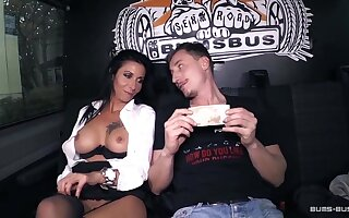 BumsBus - Grown up German gets plowed not far from a catch backseat be beneficial to a instructor